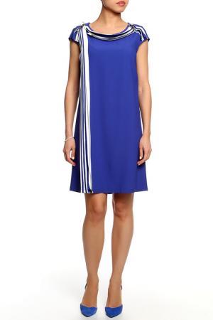 Платье SEVENTY. Цвет: сине-черный