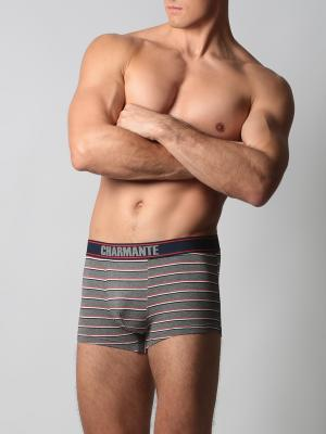 Трусы-боксеры мужские Charmante. Цвет: серый,красный