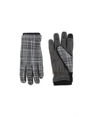 Перчатки HONNS. Цвет: серый