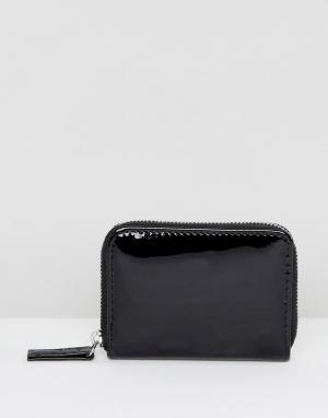 New Look Лакированный мини-кошелек. Цвет: черный