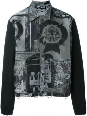 Куртка с принтом Liam Hodges. Цвет: чёрный
