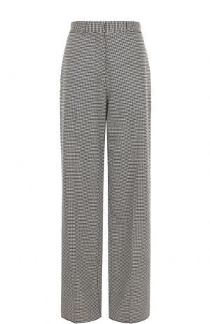 Расклешенные шерстяные брюки со стрелками Victoria Beckham. Цвет: черно-белый