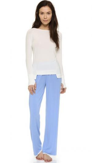 Пижама Carolyn Murphy с цветными блоками Cheek Frills. Цвет: синий/белый