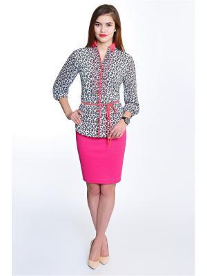 Блузка RISE. Цвет: белый, серый, розовый