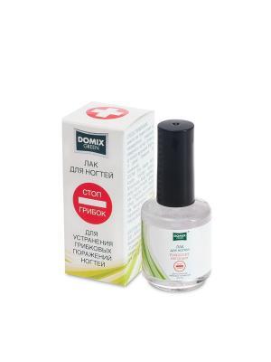 Лак для устранения грибковых поражений ногтей Стоп грибок, 17 мл DOMIX GREEN PROFESSIONAL. Цвет: белый
