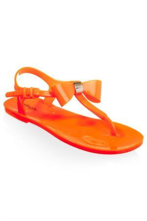 Сандалии MENGHI. Цвет: оранжевый