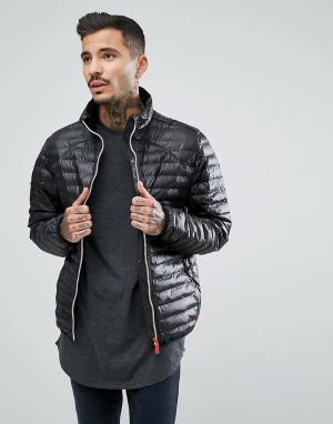 Hunter Черная дутая куртка. Цвет: черный