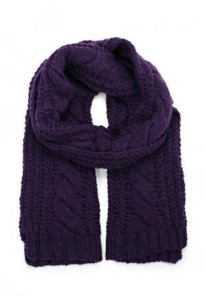 Комплект шапка, шарф и варежки Vitacci. Цвет: фиолетовый