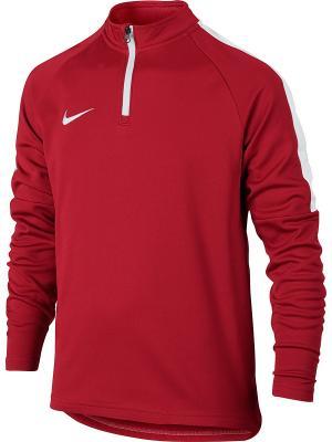 Джемпер Y NK DRY ACDMY DRIL TOP Nike. Цвет: красный