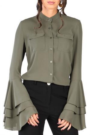Блуза CARLA BY ROZARANCIO. Цвет: зеленый