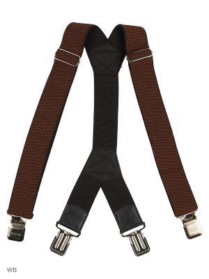 Подтяжки Stilmark. Цвет: коричневый
