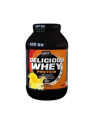 Протеин QNT Delicious Whey Protein (йогурт-манго) 1 кг. Цвет: черный, оранжевый