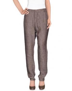 Повседневные брюки E-GÓ. Цвет: темно-коричневый