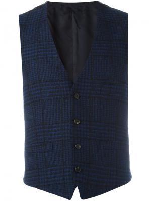Plaid waistcoat Gabriele Pasini. Цвет: синий
