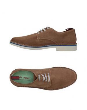 Обувь на шнурках WALLY WALKER. Цвет: светло-коричневый