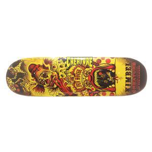 Дека для скейтборда  S6 Kimbel Circus Of Damned 33 x 9.0 (22.9 см) Creature. Цвет: оранжевый,желтый,черный