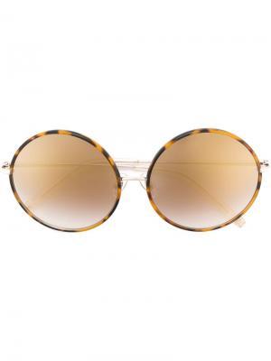 Солнцезащитные очки в круглой оправе Matthew Williamson. Цвет: коричневый
