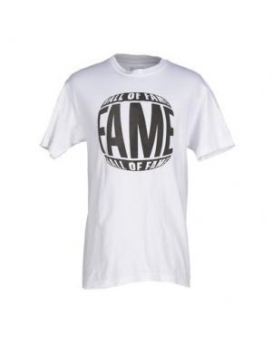 Футболка HALL OF FAME. Цвет: белый
