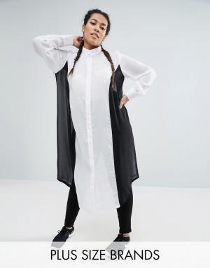 One Three Полупрозрачная oversize-рубашка. Цвет: мульти