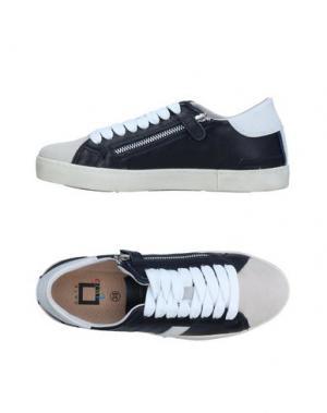 Низкие кеды и кроссовки D.A.T.E. KIDS. Цвет: темно-синий
