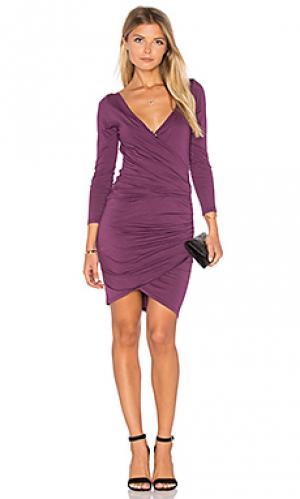 Облегающее платье с длинным рукавом beatriz Velvet by Graham & Spencer. Цвет: фиолетовый