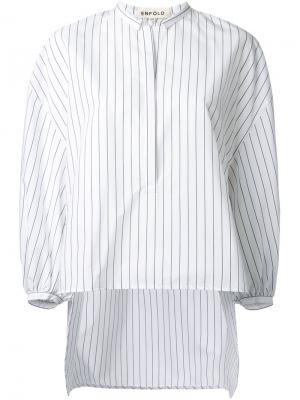 Блузка в полоску Enföld. Цвет: белый