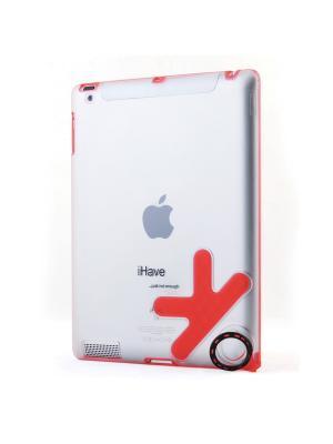 Чехол-панель  для iPad2 с кольцом-держателем Belsis. Цвет: красный
