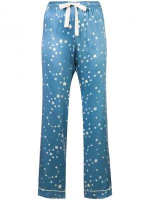 Chantal pyjama trousers Morgan Lane. Цвет: синий