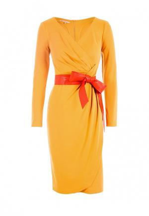 Платье LO. Цвет: желтый