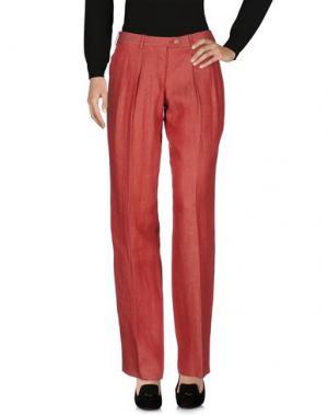 Повседневные брюки TONELLO. Цвет: кирпично-красный
