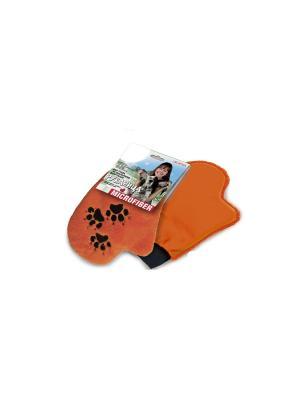 Рукавица для ухода за дом. животными Elff Ceramics. Цвет: оранжевый
