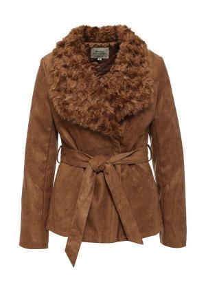 Куртка утепленная Softy. Цвет: коричневый