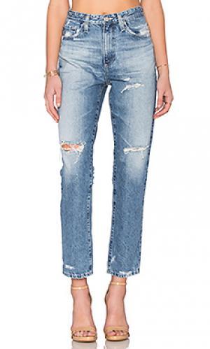 Укороченные джинсы phoebe AG Adriano Goldschmied. Цвет: none