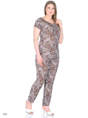 Комплект брюки+блузка, модель Лоис Dorothy's Home. Цвет: коричневый