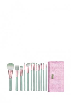 Набор кистей для макияжа Royal&Langnickel. Цвет: зеленый