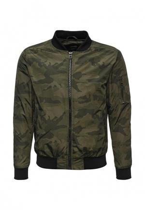 Куртка утепленная oodji. Цвет: хаки