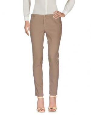 Повседневные брюки NO LAB. Цвет: хаки