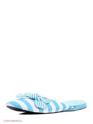 Тапочки Kapprise. Цвет: голубой
