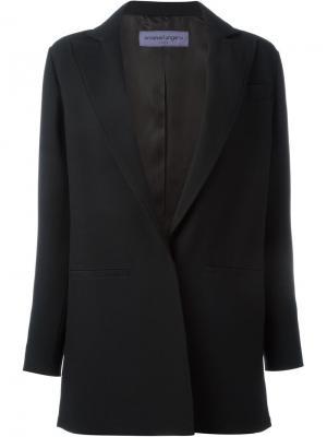 Пиджак с нагрудным карманом Emanuel Ungaro. Цвет: чёрный