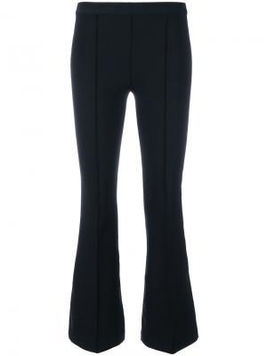 Cropped flared trousers Helmut Lang. Цвет: чёрный