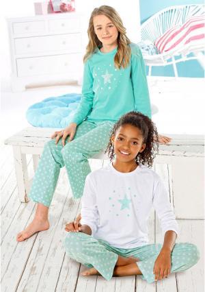 Пижама PETITE FLEUR. Цвет: белый+мятный