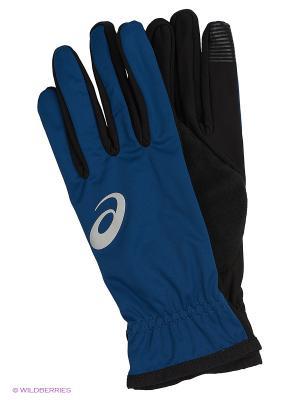 Перчатки WINTER PERFORMANCE GLOVES ASICS. Цвет: синий