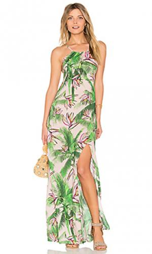 Длинное платье spellbound PILYQ. Цвет: зеленый