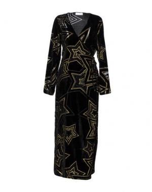 Платье длиной 3/4 WEILI ZHENG. Цвет: черный