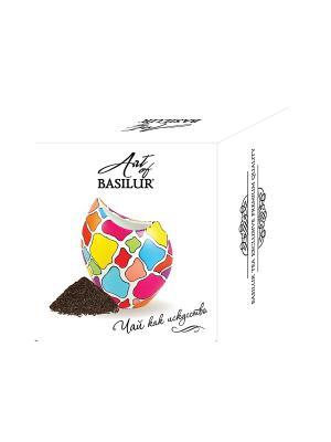 Набор Чай Basilur ART OF Ваза Аура.Мозаика. Цвет: черный