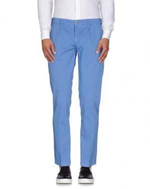 Повседневные брюки ROBERTO PEPE. Цвет: лазурный