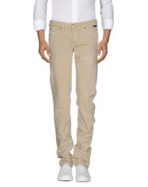 Джинсовые брюки BARBA Napoli. Цвет: бежевый