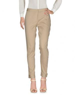 Повседневные брюки GAETANO NAVARRA. Цвет: песочный