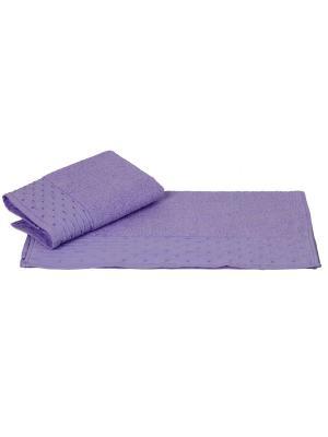 Махровое полотенце 70x140 GOFRE лиловое,100% хлопок HOBBY HOME COLLECTION. Цвет: лиловый