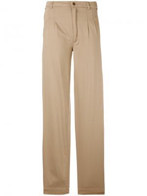 Широкие брюки Veronique Branquinho. Цвет: телесный